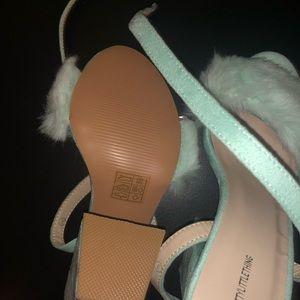 Pretty little things mint green heels